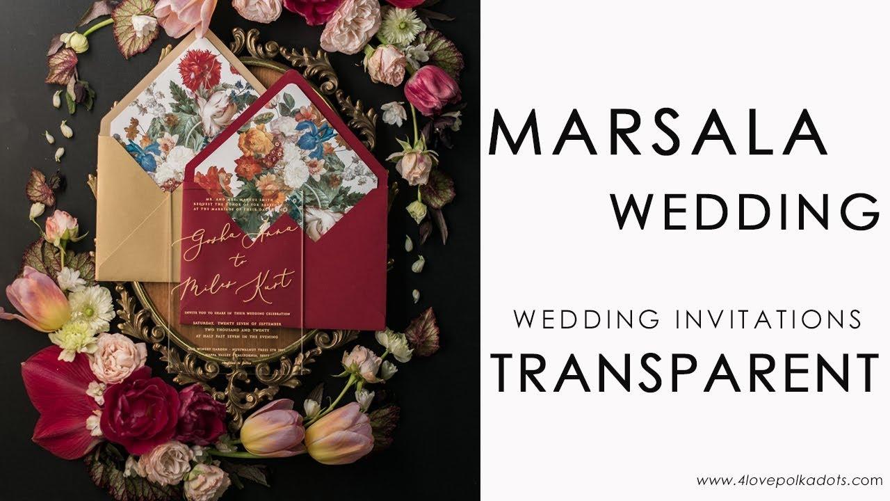 Transparent wedding invitations - YouTube