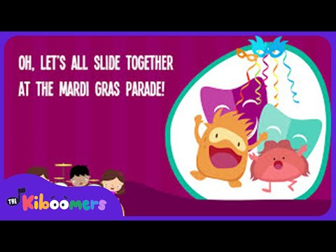 Mardi Gras Music | Mardi Gras for Kids | Lyric Video | The Kiboomers