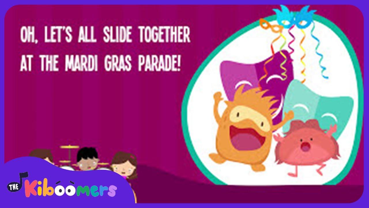 Mardi Gras Music | Mardi Gras for Kids | Lyric Video | The Kiboomers