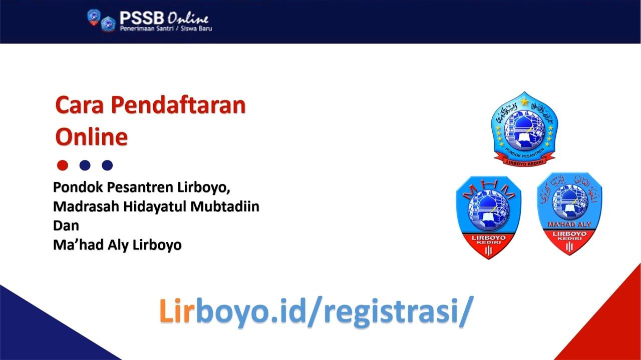 TUTORIAL PENDAFTARAN SISWA BARU MHM DI LINK LIRBOYO.ID