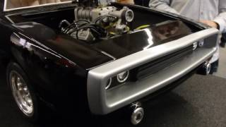 RC Dodge Charger 1/4 with real V8 engine - Intermodellbau 2017