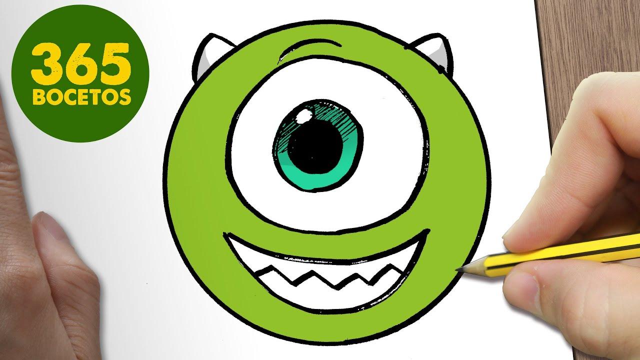 Cute Mike Wazowski Wallpaper Como Dibujar Mike Wazowski Emoticonos Whatsapp Kawaii Paso