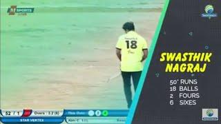 Match winning fifty by Swasthik Nagraj | Srinivaspur Premier League 2019, Season 1