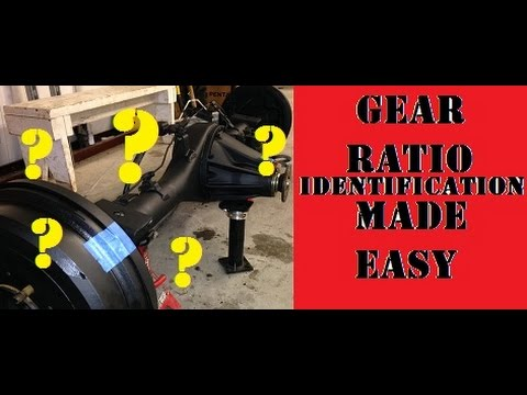 Easy Gear Ratio Identification in any Axle