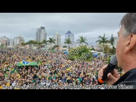 Bolsonaro Faz DISCURSO APÓS MOTOCIATA EM FLORIANÓPOLIS SC Veja Multidão                   olhocerto