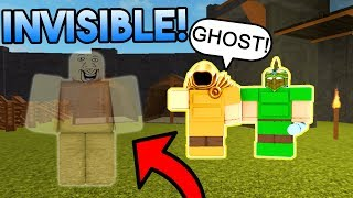 HO HAUNTED THEIR BASE IN ROBLOX BOOGA BOOGA! (INVISIBILITY TROLLING)