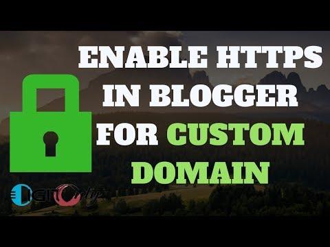 How TO Enable https For Blogger Custom Domain | Add Https In Blogger For Free