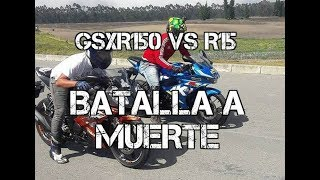 GSXR 150 VS R15 Drag Race #FULLGASS