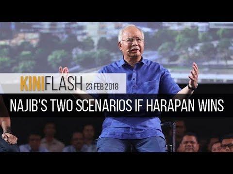 KiniFlash - 23 Feb: Najib predicts what'll happen if Harapan wins