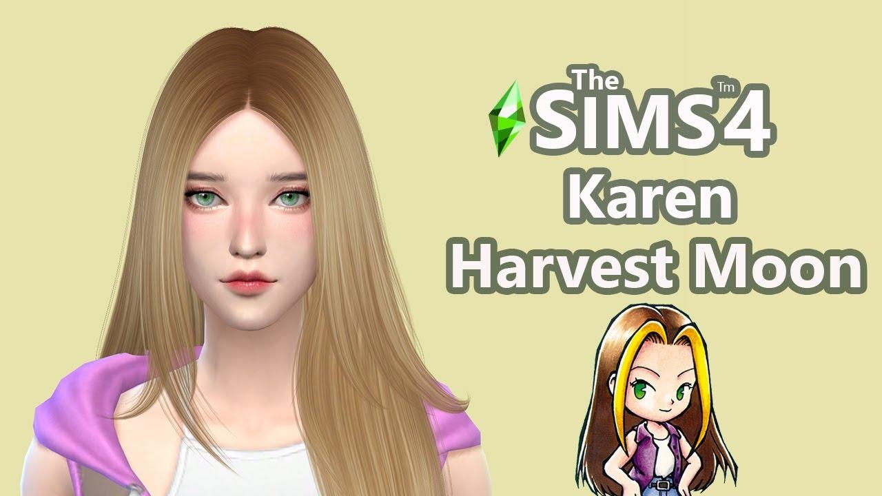 สร้างตัวละคร harvest moon ลูกสาวร้านขายของ ในเกม The sims 4 (Speed Build and CC List)