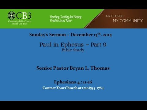 CB3 Sunday Sermon 12 13 2015