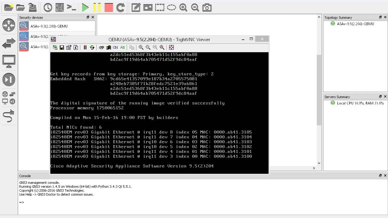 Configuring Cisco ASAv 9 x on GNS3 1 4 x | DNT TEAM BLOG