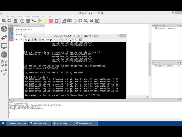 configuring Cisco ASAv 9.x on GNS3 1.4.x