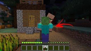 จะเป็นอย่างไร? ถ้าเรา กลายเป็น ซอมบี้ 1วัน!? ในโลกมายคราฟ!! | Minecraft Monster Day