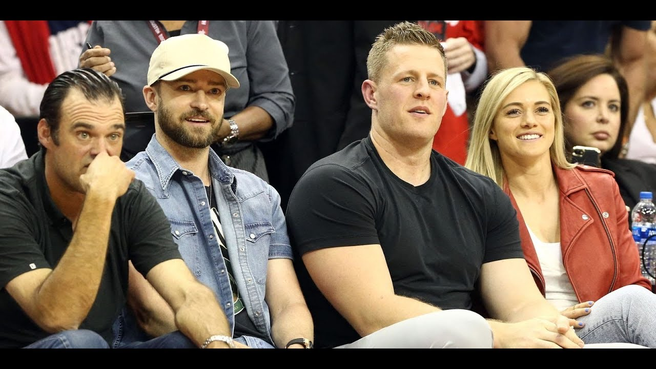 Fun with friends: Justin Timberlake and JJ Watt are all of us reacting to ...