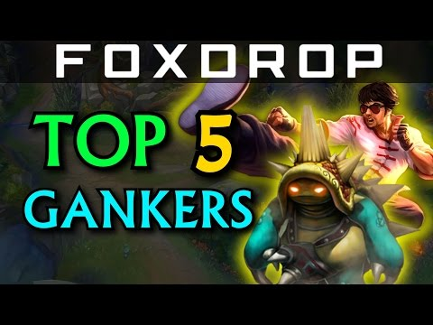 Top 5 Ganking Junglers in Solo Queue - League of Legends