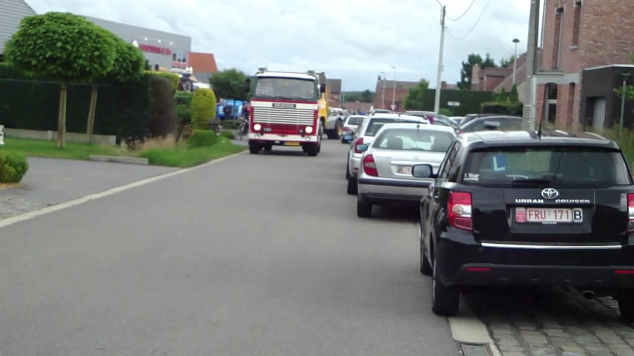 Scania 140 & scania 141 v8 leaves oldtimershow peeters 2012