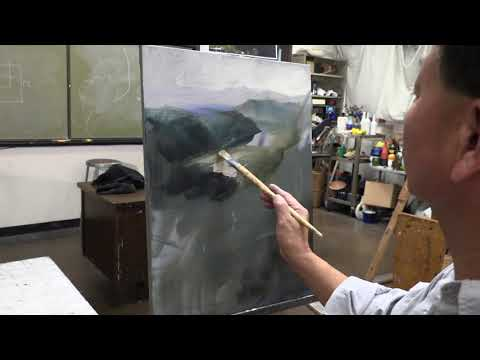 how to draw landscape with Oil paint By James Wu