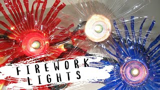 Recycled Water Bottle Fireworks Lights Craft