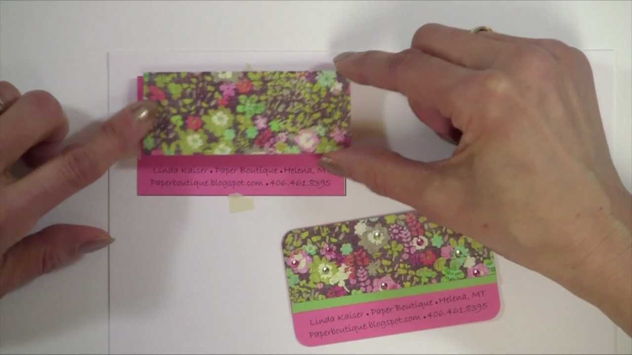 How to Make Custom Business Cards - YouTube