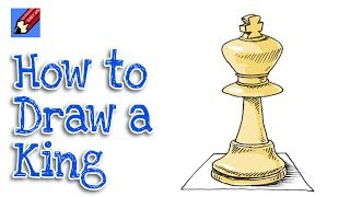How to draw a Chess King Real Easy