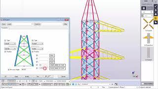 Tekla Structures.Transmission Tower diagonal plugin.
