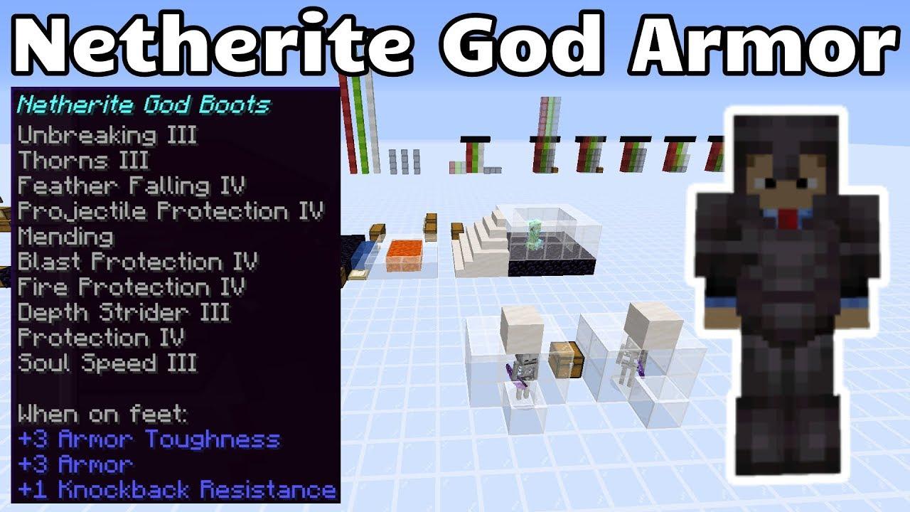 Netherite God Armor (Minecraft Java 9.96)
