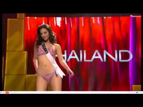 ฟ้า ชัญษร มิสไทยแลนด์ยูนิเวิร์ส เดินชุดว่ายน้ำ Miss Universe 2011