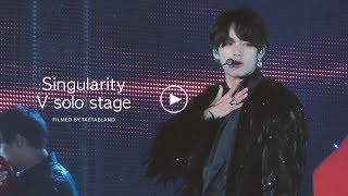 191026 SPEAK YOURSELF THE FINAL in SEOUL |  방탄소년단 'Singularity' 뷔 직캠 BTS V Solo Stage Fancam [4K]