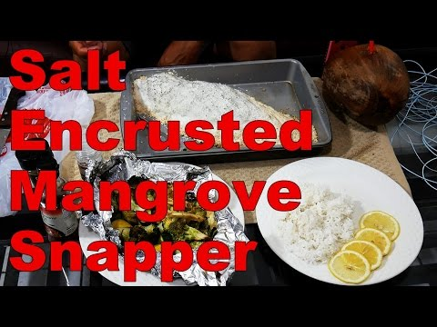 Key West Kayak Cooking - Salt Encrusted Snapper - Catch and Cook