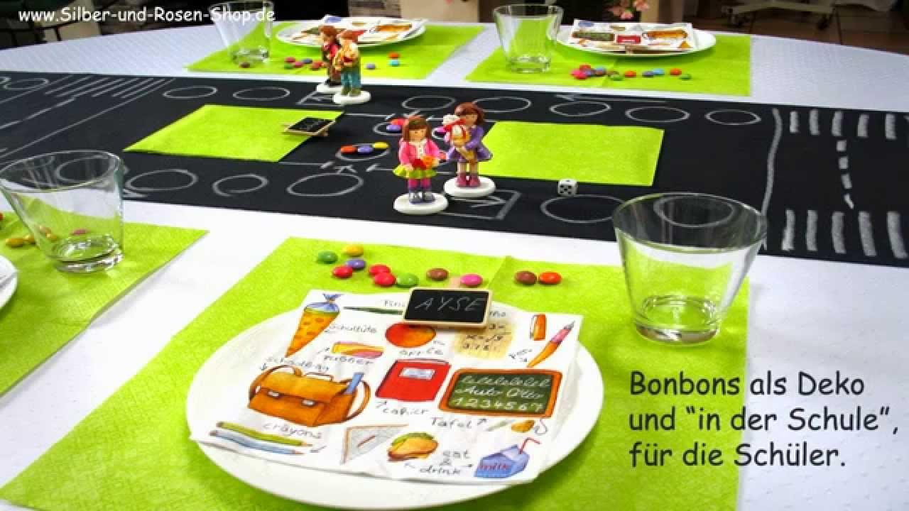 Schulanfang 2016 Tischdeko Und Wurfelspiel Youtube
