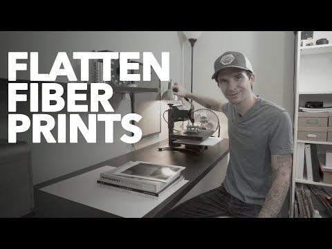 How I Flatten Fiber Based Prints
