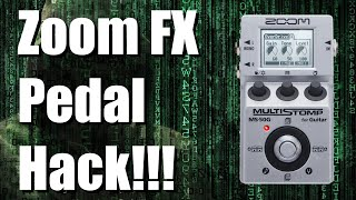 Better Gear - Zoom Multi FX Pedal Hack (MS 50G, MS 60B, MS 70CDR, G1ON,...)