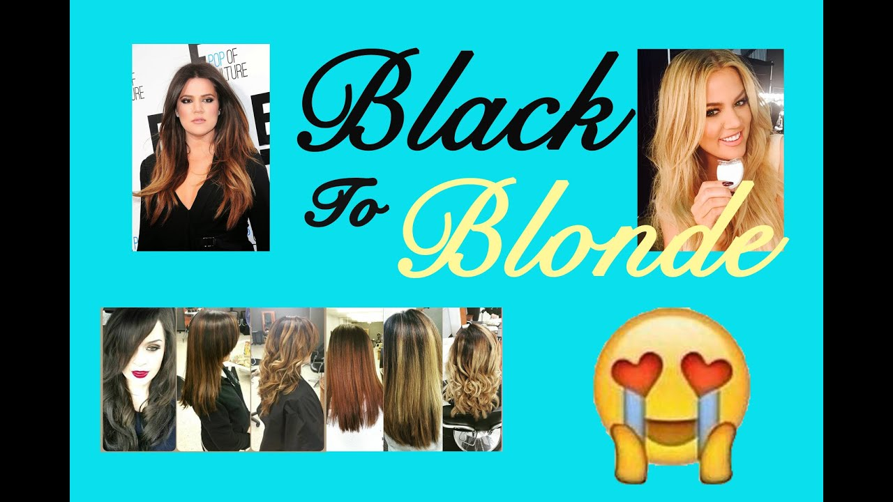 How To Get Khloe Kardashian Hair From Black To Blonde No Damage