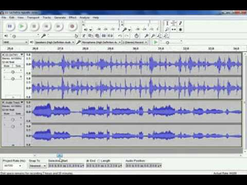 how to record song in your owen voice from audacity in hindi /urdu