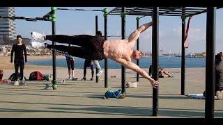 Тренировка Street Workout В Барселоне
