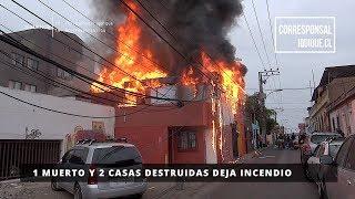 1 MUERTO Y 2 CASAS DESTRUIDAS DEJA INCENDIO