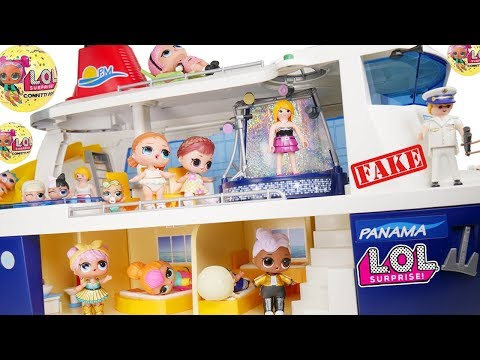 Barbie Dolls LOL Restuarant Family Travel Morning Routine in Pink Barbie Airplane