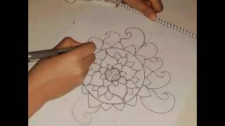How to draw mandala with my style💕💇