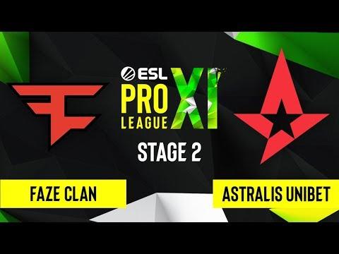 CS:GO - Astralis UNIBET Vs. FaZe Clan [Nuke] Map 1 - ESL Pro League Season 11 - Stage 2