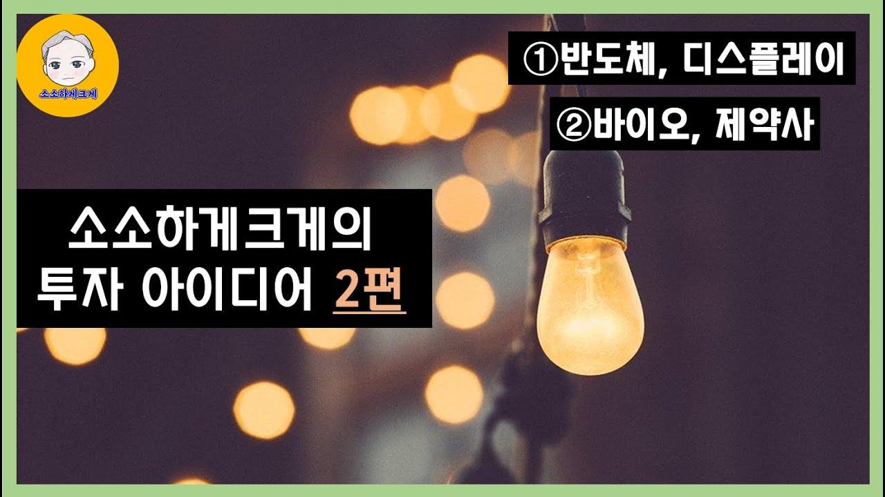 소소하게크게의 업종별 투자 아이디어 2편 [반도체, 디스플레이 / 바이오, 제약사]