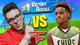 LeBron James Jr Joins FaZe... (Fortnite 1v1)