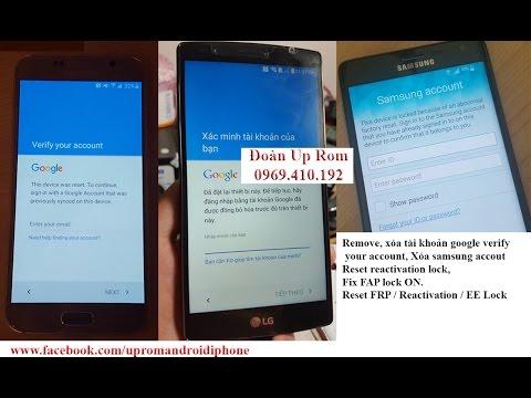 Điện thoại/Tablet - Xóa xác minh tài khoản google của bạn