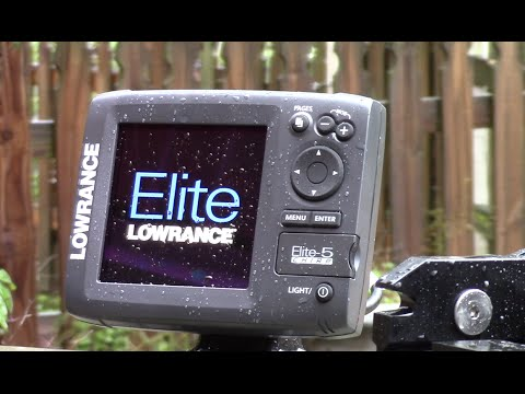 installing a lowrance elite 5 chirp