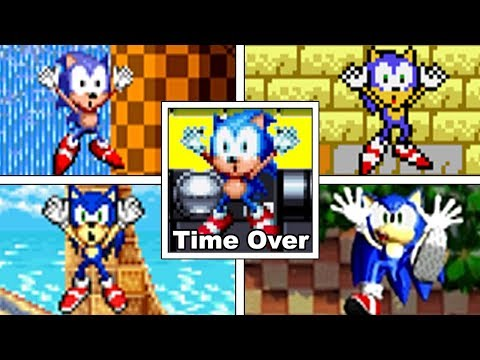 Evolution Of Sonic's TIME UP/TIME OVER DEATHS In The Sonic The Hedgehog Series (1991-2017)