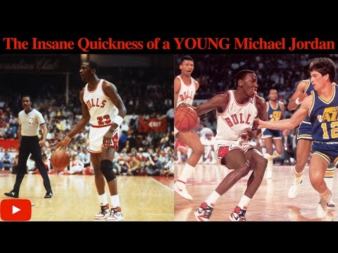 The Insane Quickness of a YOUNG Michael Jordan