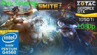 Smite - GTX 1050 Ti - G4560 - 1080p - Max Settings