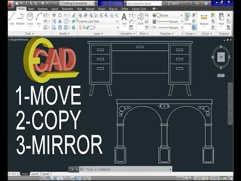 Copy move commands in auto cad for Copy cad