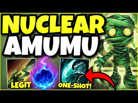 DON'T GET HIT BY AMUMU SUPPORT OR YOU WON'T HAVE A HEALTHBAR! (100% NUKE BUILD) – League of Legends