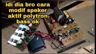 Cara memasang gacun speaker aktif polytron